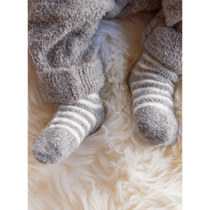 BABY WEARING COZY CHIC INFANT SOCKS 3-PACK | PEWTER