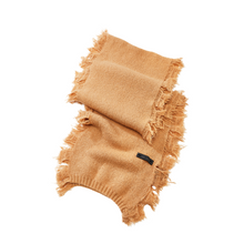 Load image into Gallery viewer, ANITA CASHMERE BLEND SCARF | CAMEL FOLDED