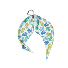 Load image into Gallery viewer, GREEN FLORAL HAIR SCARF