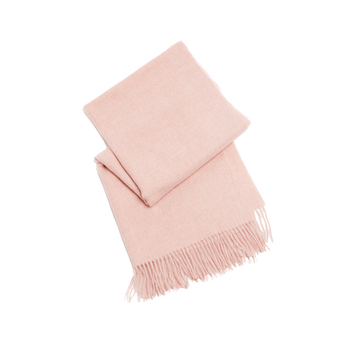 FOLDED PINK HEATHERED SCARF