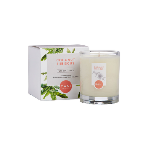 COCONUT HIBISCUS 7.5 OZ CANDLE WITH BOX