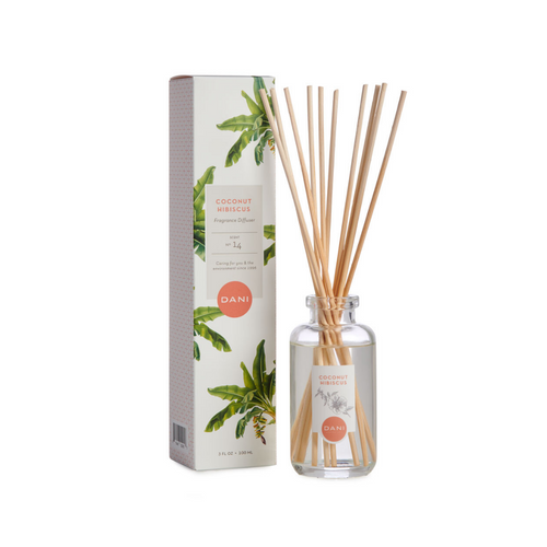 COCONUT HIBISCUS REED DIFFUSER WITH BOX
