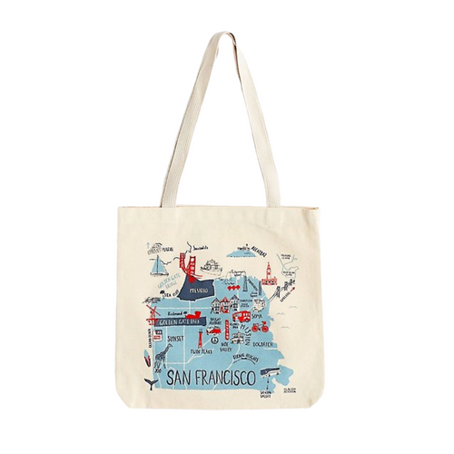 SF MAP EVERYDAY TOTE
