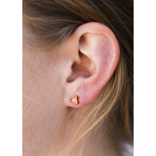 Load image into Gallery viewer, WOMAN WEARING CITRINE MINI ENERGY GEM EARRINGS