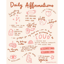 Load image into Gallery viewer, DAILY AFFIRMATIONS PRINT