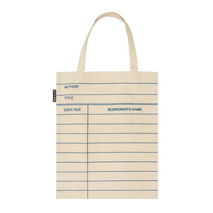 FRONT OF LIBRARY CARD TOTE