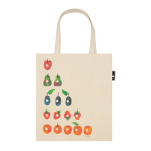 Load image into Gallery viewer, BACK OF VERY HUNGRY CATERPILLAR TOTE