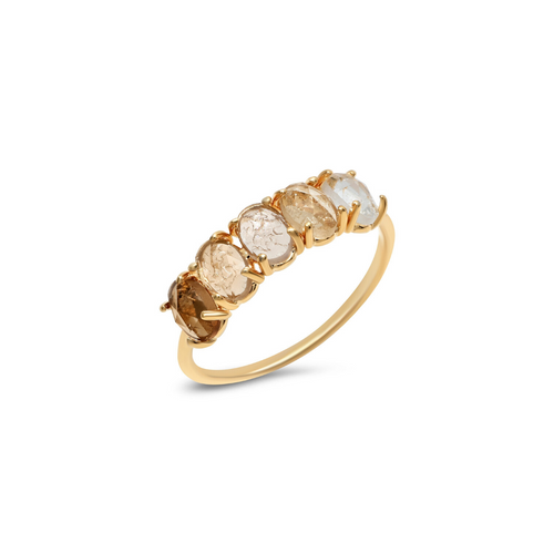 AMBER OMBRE RING