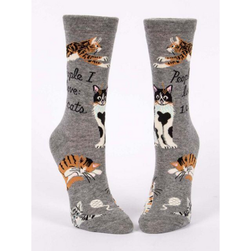 FRONT VIEW OF PEOPLE I LOVE, CATS CREW SOCKS