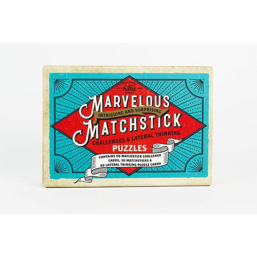 MARVELOUS MATCHSTICK PUZZLE GAME BOX front view