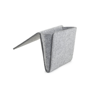 LIGHT GRAY FELT BEDSIDE CADDY