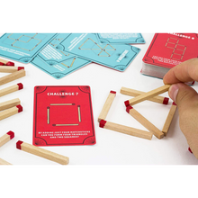 Load image into Gallery viewer, MARVELOUS MATCHSTICK PUZZLE GAME BOX WITH INSIDE PRODUCT