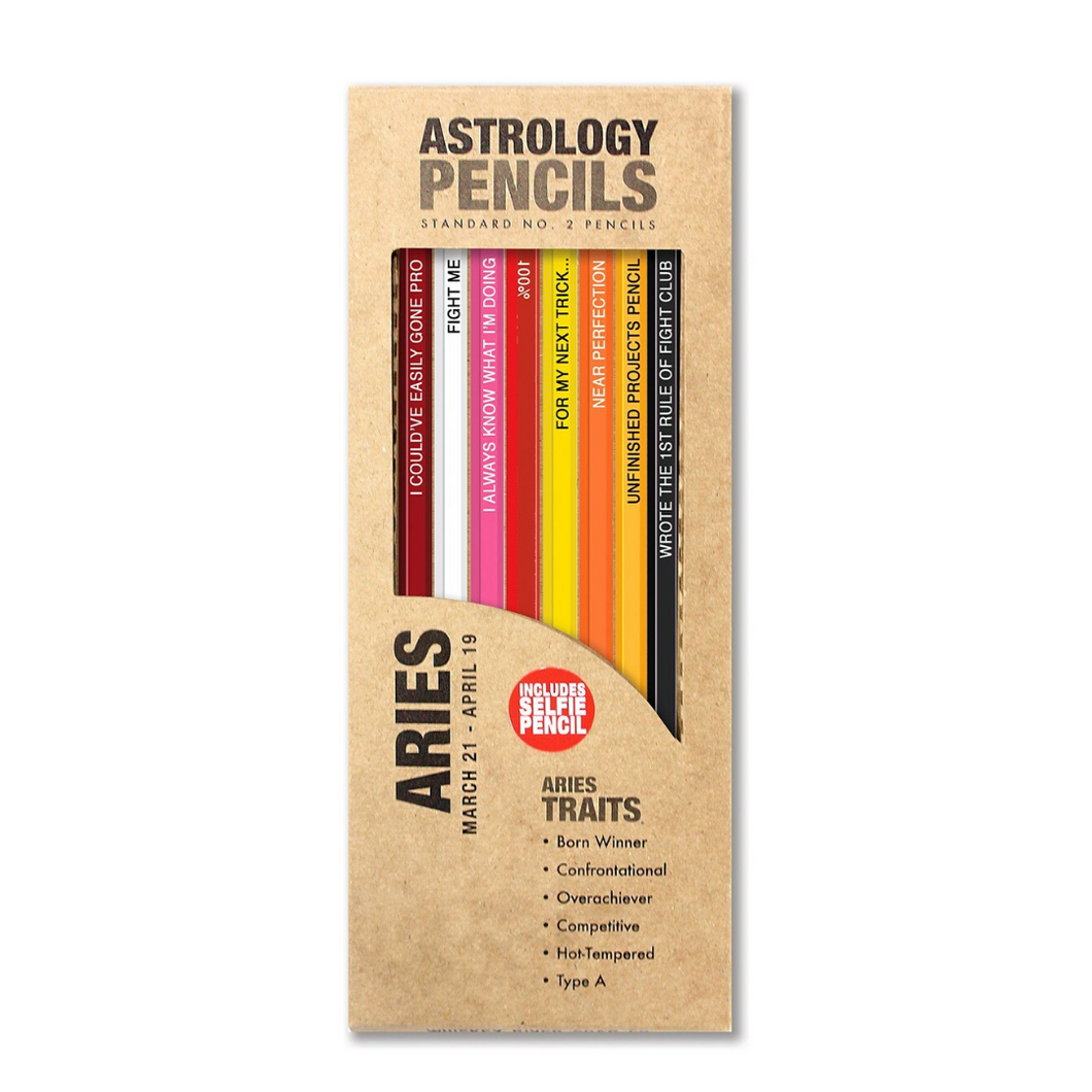 ARIES ASTROLOGY PENCILS ARIES IN BOX