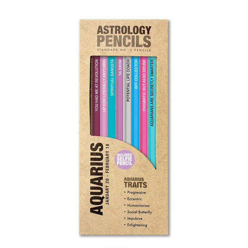 ASTROLOGY PENCILS AQUARIUS IN BOX