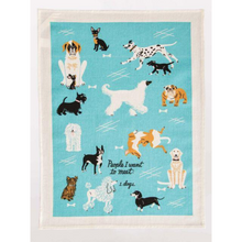 Load image into Gallery viewer, PEOPLE TO MEET DOGS DISHTOWEL flatten