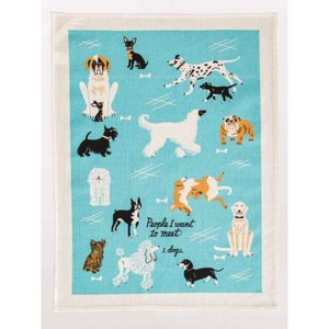 PEOPLE TO MEET DOGS DISHTOWEL flatten