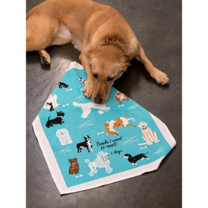 dog with PEOPLE TO MEET DOGS DISHTOWEL