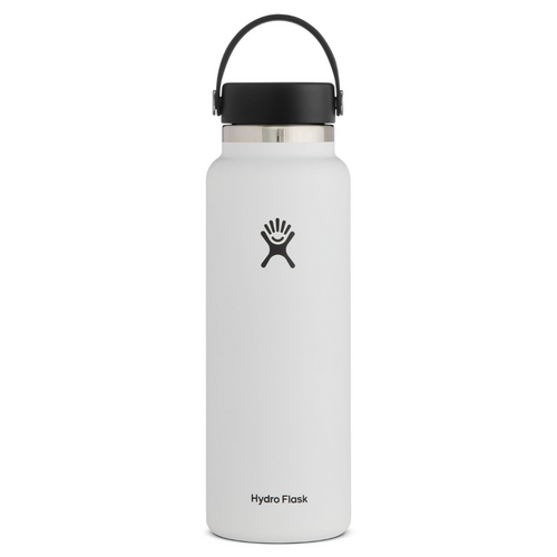 HYDROFLASK 40 OZ WATER BOTTLE IN WHITE
