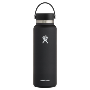HYDROFLASK 40 OZ WATER BOTTLE IN BLACK