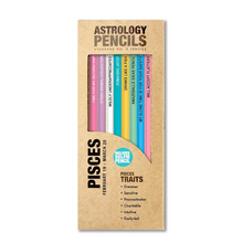 Load image into Gallery viewer, astrology pencils pisces in box