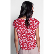 Load image into Gallery viewer, WOMAN WEARING IMOGEN TOP IN RED
