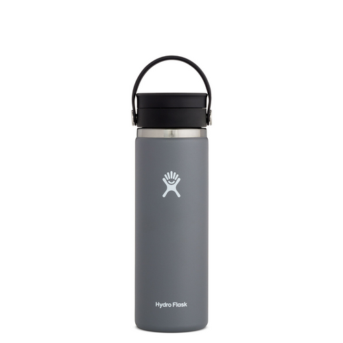 HYRDROFLASK 20 OZ WIDE MOUTH WITH FLEX LID IN STONE