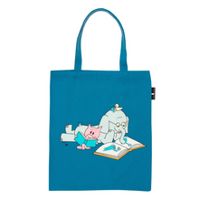Load image into Gallery viewer, back of ELEPHANT AND PIGGIE READ TOTE