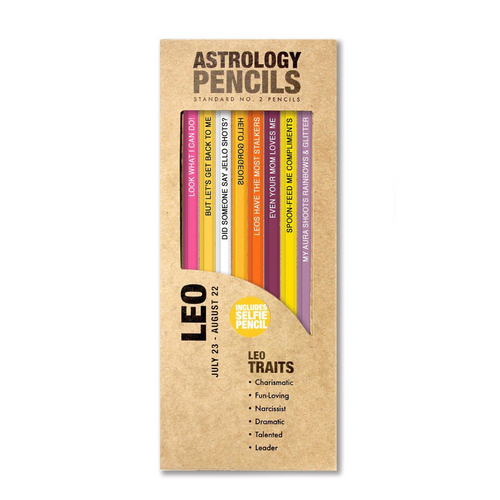 ASTROLOGY PENCILS LEO BOX SET