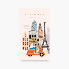 Load image into Gallery viewer, SCOOTER GIRL ENAMEL PIN
