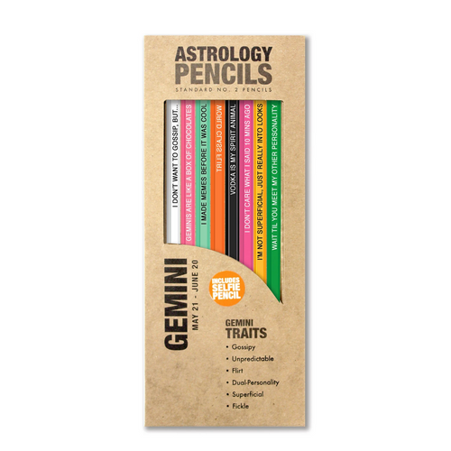 astrology pencils gemini in box