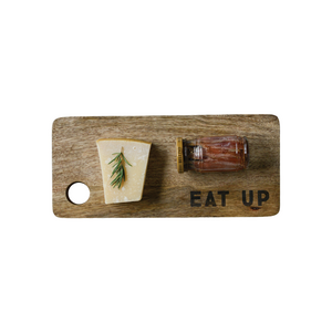 EAT UP CUTTING BOARD WITH FOOD