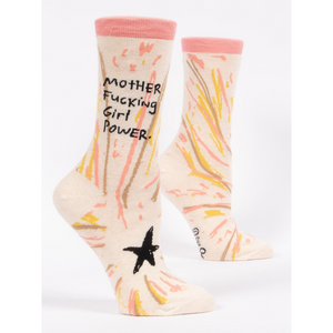 SIDE VIEW MOTHERF****** GIRL POWER SOCKS