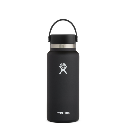 HYRDROFLASK 32 OZ WATER BOTTLE IN BLACK