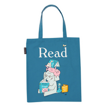 Load image into Gallery viewer, front of ELEPHANT AND PIGGIE READ TOTE