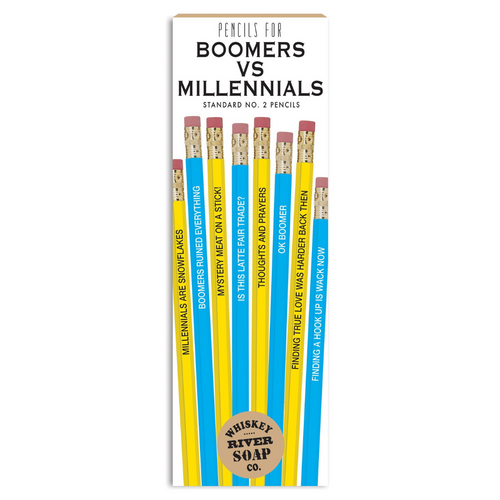 BOOMERS VS MILLENNIALS PENCIL SET