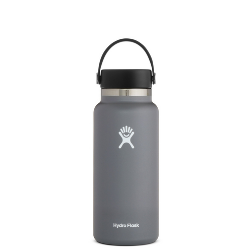 HYRDROFLASK 32 OZ WATER BOTTLE IN STONE