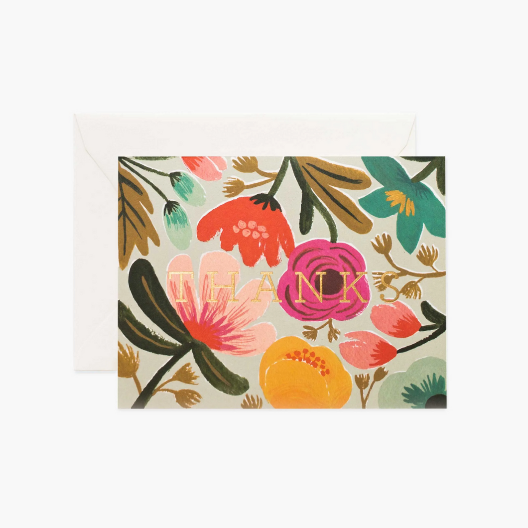 GOLD FLORAL BOXED CARD SET