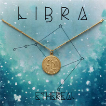 Load image into Gallery viewer, ZODIAC MEDALLION NECKLACE LIBRA