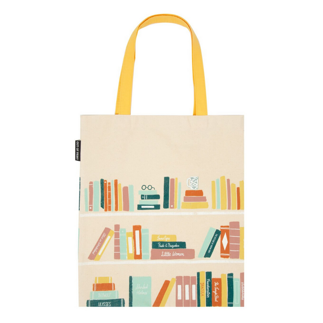 FRONT OF BOOKSHELF TOTE