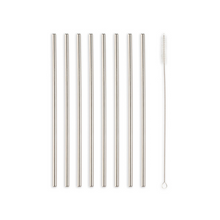 Load image into Gallery viewer, STAINLESS STEEL STRAW SET WITH BRUSH