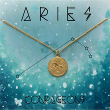 Load image into Gallery viewer, ZODIAC MEDALLION NECKLACE ARIES