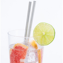 Load image into Gallery viewer, STAINLESS STEEL STRAWS IN DRINK