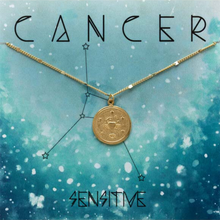 Load image into Gallery viewer, ZODIAC MEDALLION NECKLACE CANCER