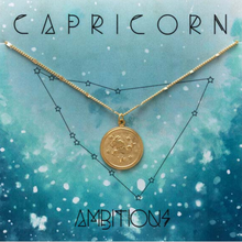 Load image into Gallery viewer, ZODIAC MEDALLION NECKLACE CAPRICORN