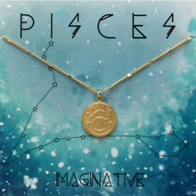 Load image into Gallery viewer, ZODIAC MEDALLION NECKLACE PISCES