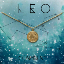 Load image into Gallery viewer, ZODIAC MEDALLION NECKLACE LEO