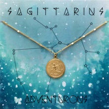 Load image into Gallery viewer, ZODIAC MEDALLION NECKLACE SAGITTARIUS