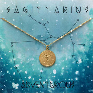 ZODIAC MEDALLION NECKLACE SAGITTARIUS