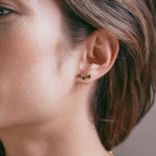 Load image into Gallery viewer, woman wearing star cluster earrings