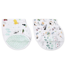 Load image into Gallery viewer, AROUND THE WORLD BURPY BIBS 2-PACK